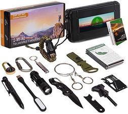 Oak Dweller 14 in 1 Emergency Survival Kit - Ultimate EDC Su