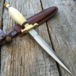 "10.5"" REAL BONE Medieval Renaissance Fantasy Dagger hunting"
