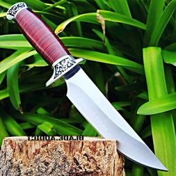 "10"" Full Tang Fixed Blade Knife Hunting Skinning Survival Ar"