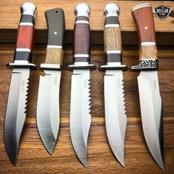 """10"""" Outdoor Survival Camping Fixed Blade Hunting Knife Bowie"""