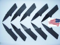 10 x Credit Card Knives Lot folding, wallet thin pocket surv