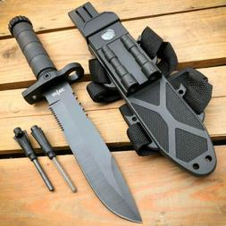 """12.5"""" MILITARY TACTICAL Hunting FIXED BLADE Army  SURVIVAL K"""