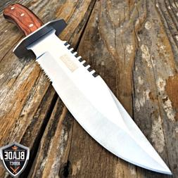 "11"" Wood Hunting Survival Skinning Fixed Blade Knife Full Ta"