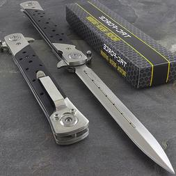 """12.5"""" STILETTO WOOD TAC FORCE SPRING ASSISTED TACTICAL FOLDI"""