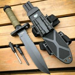 "12.5"" MILITARY TACTICAL Hunting FIXED BLADE SURVIVAL Knife w"