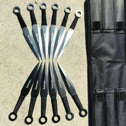 "12pc Naruto Kunai 6"" THROWING KNIVES Ninja Knife Fixed Blade"