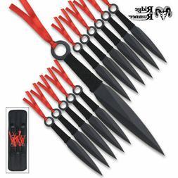 12PC Ninja Hunting KNIVES Tactical Combat Naruto Kunai Throw