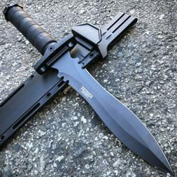 """13.5"""" Military Black Tactical Survival FIXED BLADE HUNTING M"""