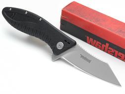 Kershaw Grinder Folding Pocket Knife ; Stainless Steel Blade