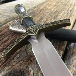 "14""  Celtic Medieval Fixed Blade Knife Short Sword Dagger Sh"