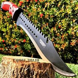 "16"" TACTICAL HUNTING SURVIVAL RAMBO MACHETE FIXED BLADE KNIF"