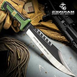 "16"" USMC TACTICAL HUNTING SURVIVAL RAMBO FIXED BLADE MACHETE"
