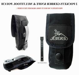 2 POCKETS GERBER KNIFE & MUTILTOOL POUCH/SHEATH FIT FOR MP80