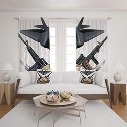 iPrint 2 Panel Set Satin Window Drapes Living Room Curtains