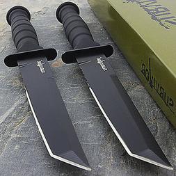 "2 x 7.5"" MILITARY TACTICAL TANTO COMBAT KNIFE w/ SHEATH Surv"