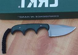CRKT 2387 FOLTS MINIMALIST BOWIE FIXED BLADE KNIFE BLACK & G