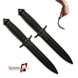 "2pk 12"" Practice TRAINING KNIVES Boot Knife Dagger - Polypro"