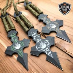 "3PC 6.5"" Ninja Tactical Skull CROSS Combat Naruto Kunai Thro"