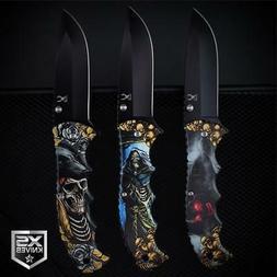 3pc Set BLACK Fantasy SKULLS n ROSES Grim Reaper Spring Assi