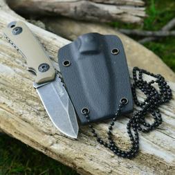 "4 3/4"" Stonewash Finish Tan G-10 Handle Tactical Fixed Blade"