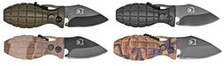 4 pc MINI GRENADE ASSISTED KNIFE WITH CHAIN FOR BELT OR KEYS