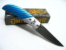 BROWNING 5612 Teal PRISM II 2 Straight LINERLOCK Folding Poc