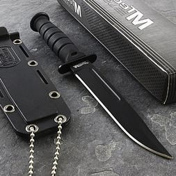 "6"" MTECH USA MINI TACTICAL DROP POINT NECKLACE KNIFE Surviva"