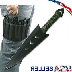 6PC Throwing Knifes Ninja Naruto Tactical Combat Hunting Kun