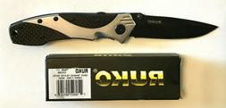 RUKO 7-3/4″ Shark Lever A/O Folding Knife Silver & Carbon