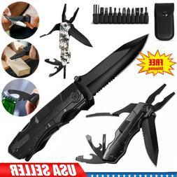 "7.5"" 5-in-1 Pocket Knife Multi Purpose Multi tool Tactical C"