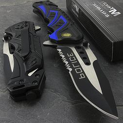 """7.5"""" MTECH USA POLICE RESCUE SPRING ASSISTED TACTICAL FOLDIN"""