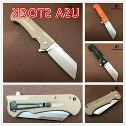 "7.7"" Knives Survival hunting D2 Blade G10 Handle Ball Bearin"