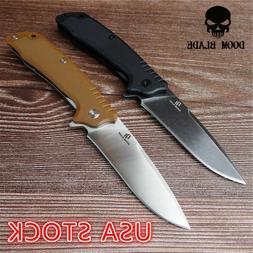 "7.9"" FH11 60-61HRC Knives Ball Bearing D2 Blade G10 Handle F"