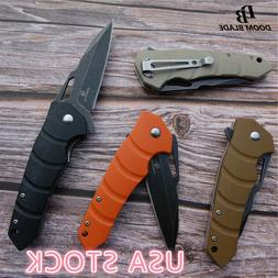 "7.9"" FH11 60-61HRC Knives Folding Knife G10 Handle D2 Blade"