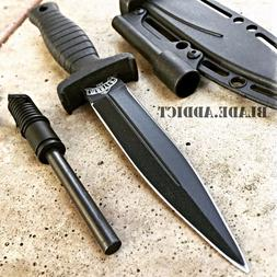 "7"" Double Edge Military Tactical Hunting Dagger Boot Neck Kn"