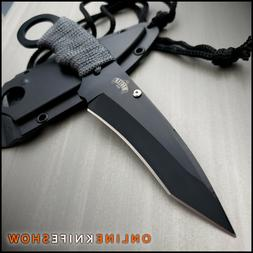 7 tactical military combat fixed blade neck
