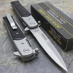 "8.5"" TAC FORCE SPRING ASSISTED TACTICAL STILETTO POCKET KNIF"