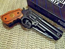 "8.5"" Defender Xtreme Black / Rosewood Spring Assisted Gun Kn"