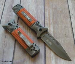 8.5 INCH MTECH TACTICAL SPRING ASSISTED KNIFE WITH POCKET CL