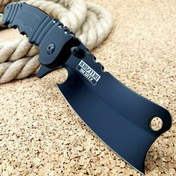 """8.5"""" Tactical Cleaver Spring Assisted Open Folding Pocket Kn"""