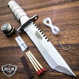 "8.5"" Tactical Fishing Hunting Knife w/ Sheath Survival Kit B"
