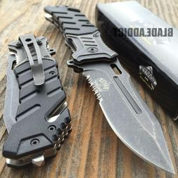 """8"""" BALLISTIC MILITARY Tactical Combat Spring Assisted Open P"""