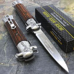 """9"""" STILETTO TAC FORCE MILANO TACTICAL WOOD SPRING ASSISTED F"""
