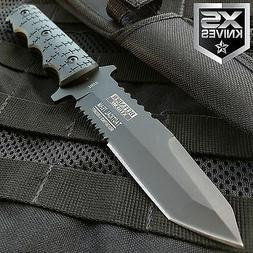 """9"""" Combat Tactical Bowie Hunting Knife Military Fixed Blade"""