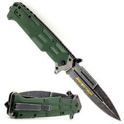 "9"" TACTICAL FOLDING POCKET KNIFE SPRING ASSISTED OPEN BLADE"