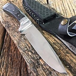 """9"""" FULL TANG WOOD SKINNER HUNTING KNIFE fishing survival ski"""