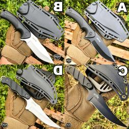 "9"" Tactical Hunting Fixed Blade Survival Camping Knife Full"