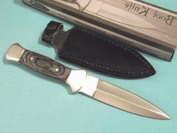 """Boot Knife 203403 Black wood dagger full tang knife 7 1/2"""" o"""