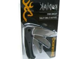 Browning BR0269 Kodiak Satin Guthook Folding Knife Pocket Fo