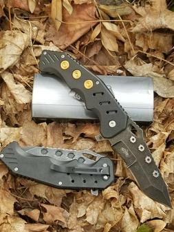 Bullet-Shells-Spring-Assist Pocket-Knife-Ballistic-Semi-Auto